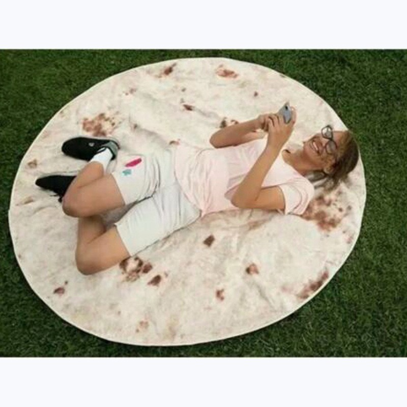 Tortilla-Blanket-Burrito-60-034-Blanket-Corn-and-Flour-Tortilla-60-034-Throw-HOT thumbnail 8